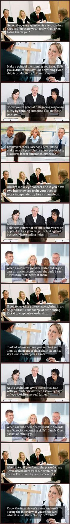 Job Interview Tips | DailyFailCenter   Just wow