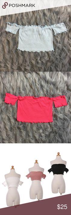 Wavy Crop Top - Baby Blue New | Boutique brand | True to size | LF Tops Crop Tops