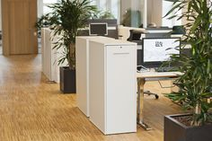Gaias Offices - unique cube storage for personal items Office Storage, Cube Storage, Storage Spaces, Open Office, Office Workspace, Gaia, Filing Cabinet, Offices, Furniture