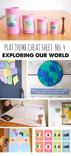 We're past due for this month's play theme cheat sheet. Ready for another stellar list of ways to play all month long? I chose learning about the world around us for July for two reasons: It seemed like a great educational theme to cover while school's out and so many families are hitting the road …