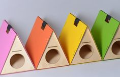 triangular pet-houses for cat by HolinDesign - Reminds me of Rainbow Row in Charleston