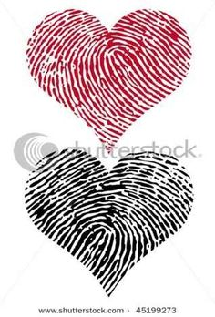 Finger print hearts. exact tattoo's I want!!!!!