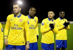Arsenal U21's vs Fulham 2013-2014.