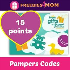 Do you collect Pampers codes? Boost your account by 15 points!  2 *NEW* CODES http://freebies4mom.com/15pampers423