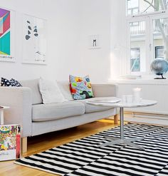 +COCOCOZY: THIS OR THAT: STRIPE VS. SOLID RUG!