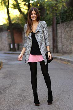 trendy_taste-look-outfit-street_style-fashion_spain-moda_españa-jacquard_skirt-pink_skirt-falda_rosa-tweed_coat-abrigo_tweed-black_leather_handbag-bolso_negro-zara-black_booties-botines_negros-polaroid-12 by Trendy Taste, via Flickr