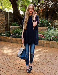 Fashionable Passion- Navy Tunic and Loafers #céline #trapeze #loafers #tunic #womensfashion #style #fashion #fashionablepassion #summer #southafrica #spring #streetstyle