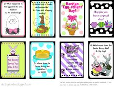 Printable Easter Lunch Box Notes (there are also links to St. Patrick's Day and Christmas lunch box notes).