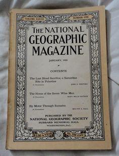 Jan 1920 National Geographic Last Blood Sacrafice a Samaritan Rite in Palastine
