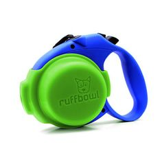 RuffBowl Green - smart!! built in water bowl for the pooch!