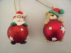 @AranzaDrive ❁ Polymer Clay Ornaments, Polymer Clay Crafts, Xmas Ornaments, Christmas Fair Ideas, Christmas Makes, Christmas Crafts, Hanger Christmas Tree, Polymer Clay Christmas, Elf Decorations