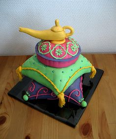 Super Mario Cake by Naera on DeviantArt Beautiful Cake Designs, Cool Cake Designs, Beautiful Cakes, Amazing Cakes, Pretty Cakes, Cute Cakes, Yummy Cakes, Aladdin Cake, Aladdin Party