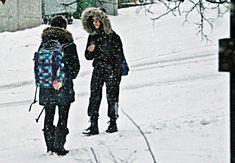 Trotz Kälte und Schneegestöber.