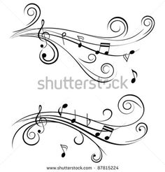 stock-vector-ornamental-music-notes-with-swirls-on-white-background-87815224.jpg (450×470)