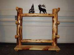 Every home needs a log gun rack.