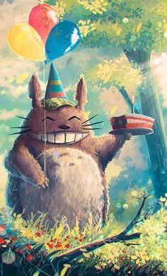 Totoro - Tonari no Totoro - Mobile Wallpaper - Zerochan Anime Image Board Studio Ghibli Art, Studio Ghibli Movies, Film Anime, Anime Art, My Neighbor Totoro, Animes Wallpapers, Hayao Miyazaki, Birthday Pictures, Otaku