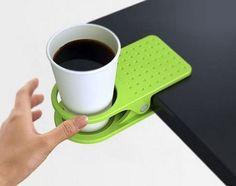 Anti-Spill Desk Cup Holder Clip, (DKCHC01)