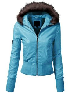 J.TOMSON Womens Fur-Lined Hood Jacket…