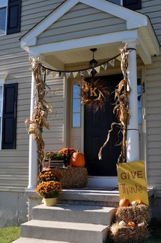 This is not a city stoop, but the real reason I want a stoop is to decorate it for fall/halloween!