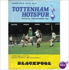 Tottenham Hotspur v Blackpool 11/02/1978 Division 2 Football Programme Sale