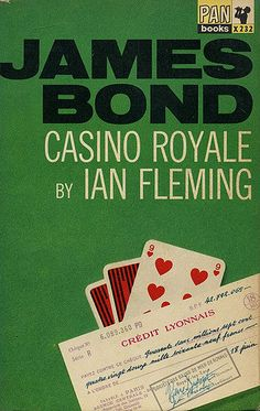 007 James Bond ~ Casino Royale by Ian Fleming - 1964 Pan pb Listing in the Thriller,Fiction,Books,Books, Comics & Magazines Category on United Kingdom James Bond Casino Royale, James Bond Books, Paris 3, Vintage Book Covers, Pocket Books, Book Cover Art, Fiction Books, Pulp Fiction, Paperback Books