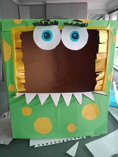 franky monster cardboard box creation Cardboard Recycling, Cardboard Box Crafts, Cardboard Playhouse, Recycled Toys, Recycled Crafts, Toddler Fine Motor Activities, Activities For Kids, Toddler Messy Play, Toy Car Storage