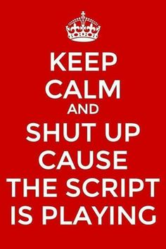 That's right! When The Script is playing you better be quiet. lol