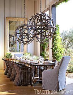 Hillary Thomas Napa Valley dining room, photo by John Merkl for Traditional Home