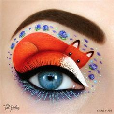 Fox from The Little Prince eye makeup