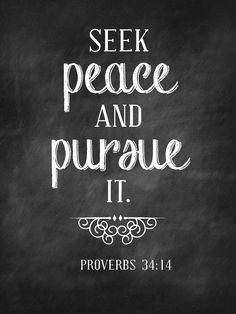 Seek Peace Sweet Blessings: Chalk Verses~ Set #1