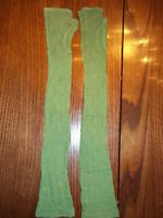 Antique Opera Gloves - From Early 1900's - Green - Rare Find