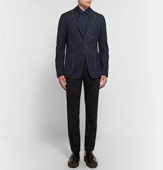 Prada - Slim-Fit Stretch Cotton-Blend Shirt. Menswear Work Fashion, Prada, Normcore, Menswear, Slim, Fitness, Cotton, Pants, Shirts