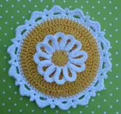 Lazy Daisy Crochet Potholder PATTERN