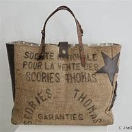 Tralaline Sac jute Plus Burlap Bags, Jute Bags, Hessian, Sacs Tote Bags, Coffee Bean Bags, Diy Sac, Couture Sewing, Linen Bag, Denim Bag