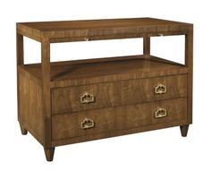 """Renata Stand from the Alexa Hampton® collection by Hickory Chair Furniture Co. Nightstand 38""""W x 22""""D x 29.25""""H"""
