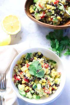 Easy Mexican Quinoa Salad (Vegan) - Vegan Blueberry