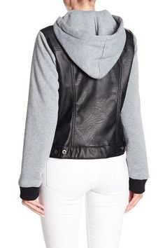 144e5f7da3b Hooded Faux Leather Jacket by Levi s on  nordstrom rack Faux Leather  Jackets