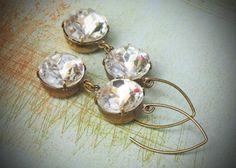 Gorgeous vintage stones! $39.00 #bride #wedding #vintage #crystal #shopping #fashion #gift