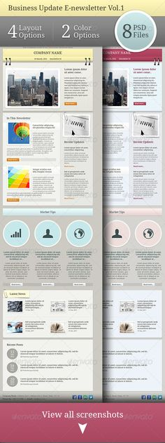 E Newsletter Template  Digital Design    Newsletter