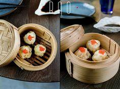 BAO Modern Chinese Bar. Shu mai with chicken, served in traditional Chinese baskets. #interdema #chinesecuisine #chineserestaurant #food #BAO #Kyiv #рестораны