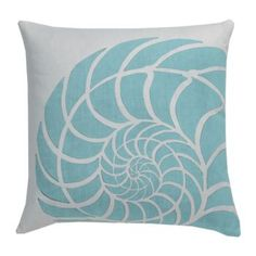 Throw Pillows by Maine Cottage | Nautilus Pillow - Wave #colorfulpillow