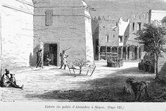 Entrée du palais d'Ahmadou à Ségou, 1872
