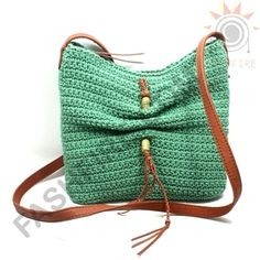 Lucky Brand Ojai Crochet Green Swing/ Crossbody Bag #HKRU1384 | Lucky Brand HKRU1384
