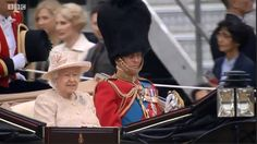The Queen and Prince Phillip Trooping the Colour 2015