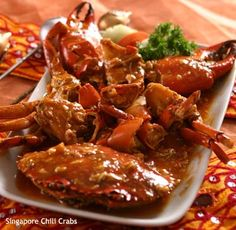 Someday I want to try authentic Singapore chili crab.  Singapore cuisine is about the only kind of food you can't find in Chicago...
