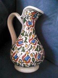 Pitcher-Iznik/Küthahya aardewerk 19e eeuw/Turkije