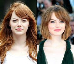 Emma Stone LEFT: drinking coffee while on set July 15, 2014.  RIGHT: beaming at Birdman premiere on Aug. 27, 2014.  Read more: http://www.usmagazine.com/celebrity-beauty/pictures/stars-without-makeup-20122410/26020#ixzz3o5JchKPZ Follow us: @usweekly on Twitter | usweekly on Facebook