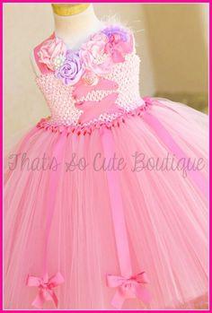 Pink Ballerina Princess Tutu Dress, Ballerina Costume, Princess Tutu Dress by That's So Cute Boutique