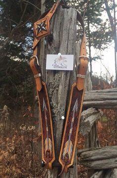 Le chouchou de ma boutique https://www.etsy.com/ca-fr/listing/477365266/western-headstall-bridle-one-ear-indian