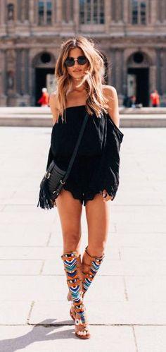 #street #style boho black
